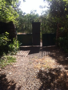 The entrance to Finca Navasola.