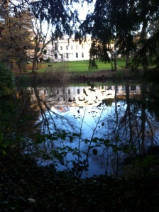 Reflection of Woodbrooke in lake