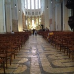The nave and labyrinth floor