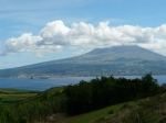 Pico island and its volcano Pico. Waiting to see the peak.