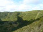 Main crater, the caldeira, on Faial, there is a walk round the crater edge