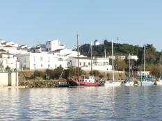 Sanlucar on the Spanish side of the Guadiana