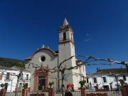 The village of Higuera, church with storks